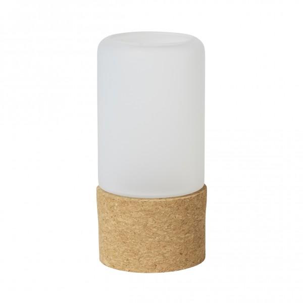 LED-Kerzenhalter, Hope, Glas, weiss, 140 x 70mm