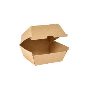"Karton Box, Braun, 5 dl, ""BioPak Clam"""