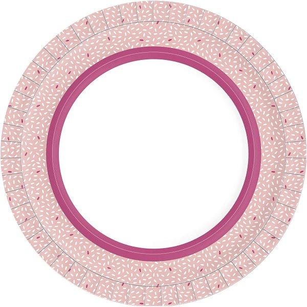 Bio Pappteller, pink, ø 22 cm