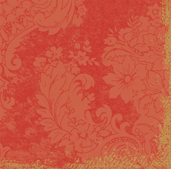 Papierservietten, orange, 40 x 40 cm