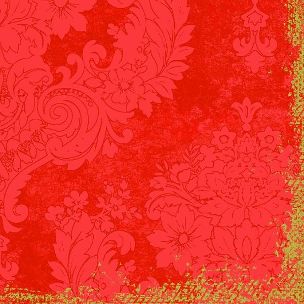 Papierservietten geprägt, orange, 40x40 cm