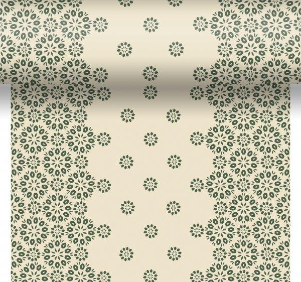 Tischset, Tischläufer, Tête-à-Tête Papier, Beige, Grün, 40 x 480 cm
