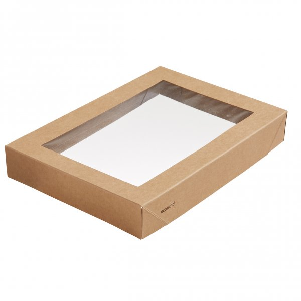 """Karton/PLA Deckel mit Fenster, Braun, """"Viking ecoecho Brick"""""""
