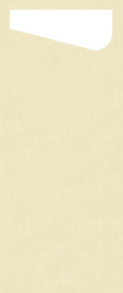 Bestecktasche Dunisoft, crème, 11,5 x 23 cm