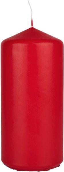Stumpenkerze, rot, 15 x ø 7cm, ca. 62 Std.