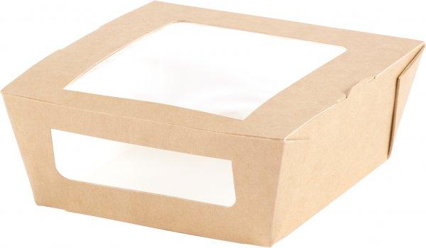 """Karton/PLA Menübox mit Fenster, Braun, 4,5 dl, """"ecoecho"""""""