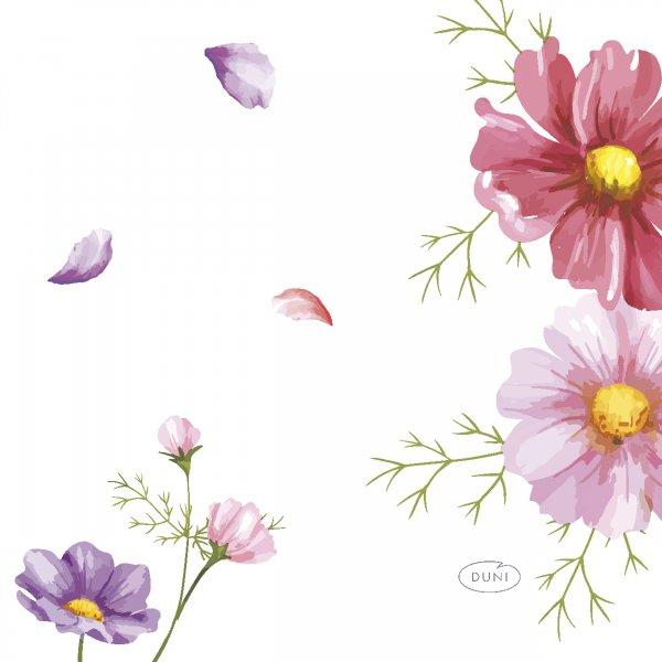 Papierservietten, Rosa, Weiss, 24 x 24 cm