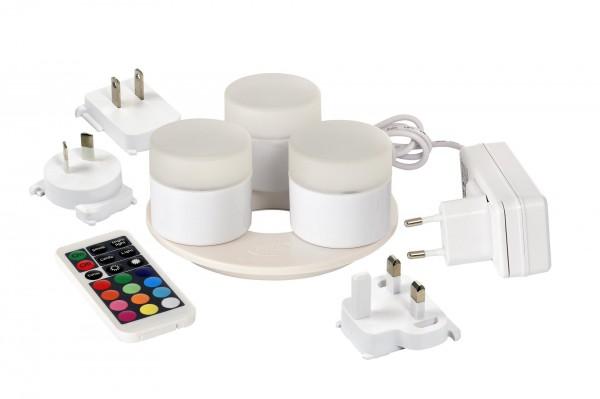 LED-Mini Lampe, 3er-Set, wiederaufladbar
