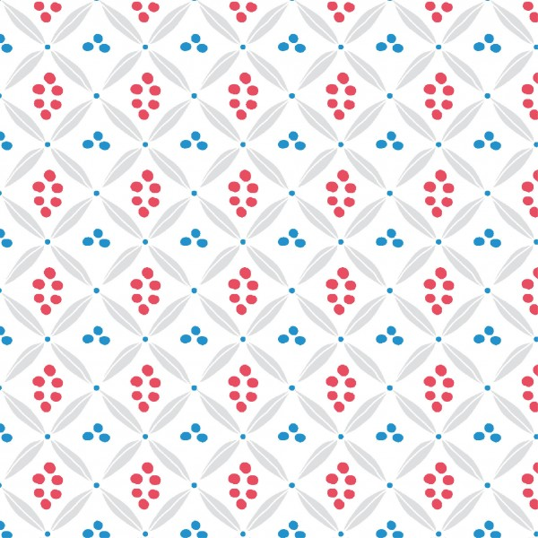 Papierservietten, rot, blau, 33x33cm, Urban Ethnic