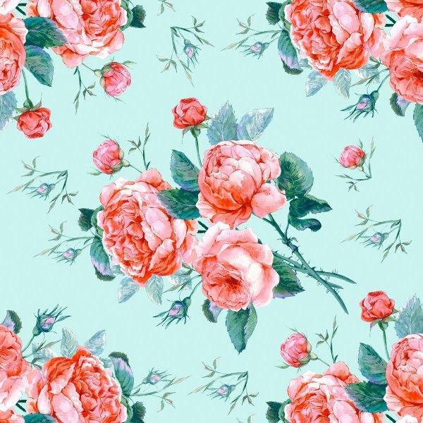 Papierservietten, rosa, türkis, 33 x 33 cm
