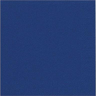 Papierservietten, dunkelblau, einfarbig, 40x40cm, 250 Stk.