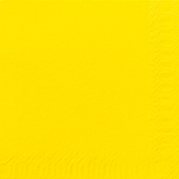 Papierservietten, gelb, 24x24cm