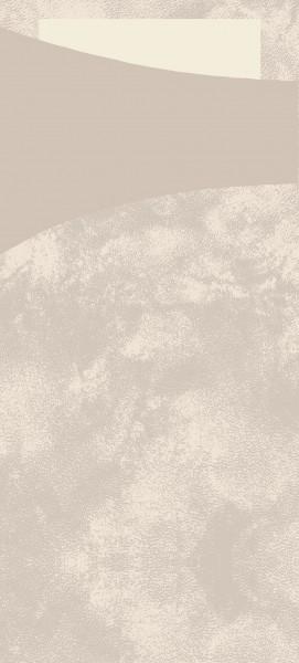Bestecktasche Papier, beige mit cremefarbener Serviette, 8.5 x 19 cm