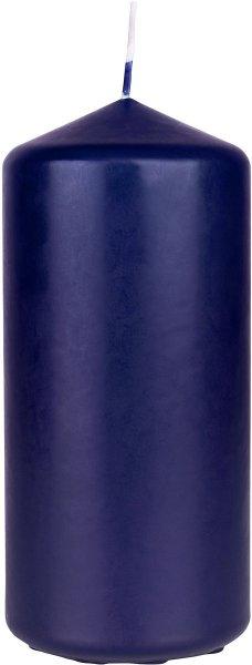 Stumpenkerze, dunkelblau, 15 x ø 7cm, ca. 62 Std.