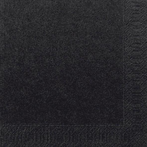 Papierservietten, schwarz, einfarbig, 24 x 24 cm