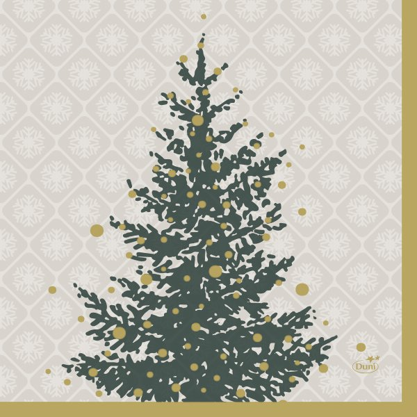 Papierservietten, Grau, Gold, 33 x 33 cm
