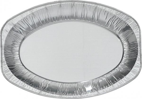 Servierplatten Aluminium, silber, 35 x 24 cm
