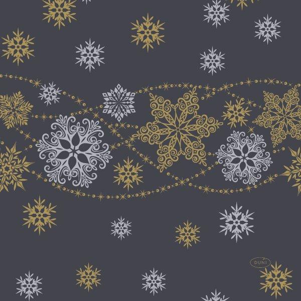 Papierservietten, Schwarz, Gold, 33 x 33 cm