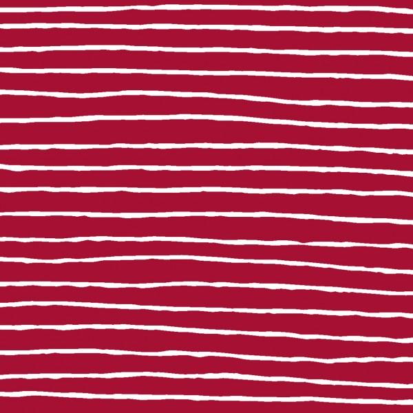 Papierservietten, Red Stripe, 24x24cm