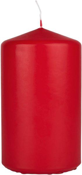 Stumpenkerze, Rot, 10 x ø 7 cm, ca. 40 Stunden
