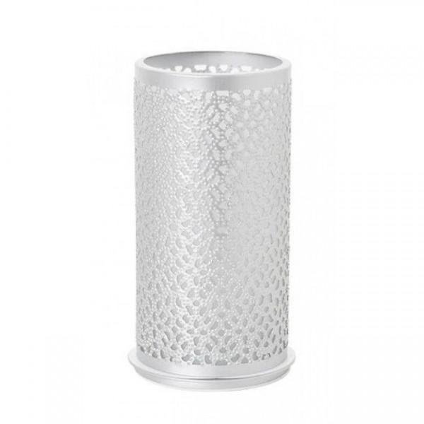 Kerzenhalter Bliss, Metall, silber, 140 x 75mm
