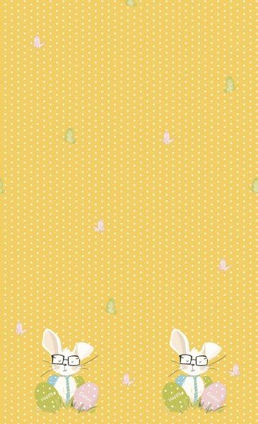 Tischdecke Papier, Gelb, 138 x 220 cm