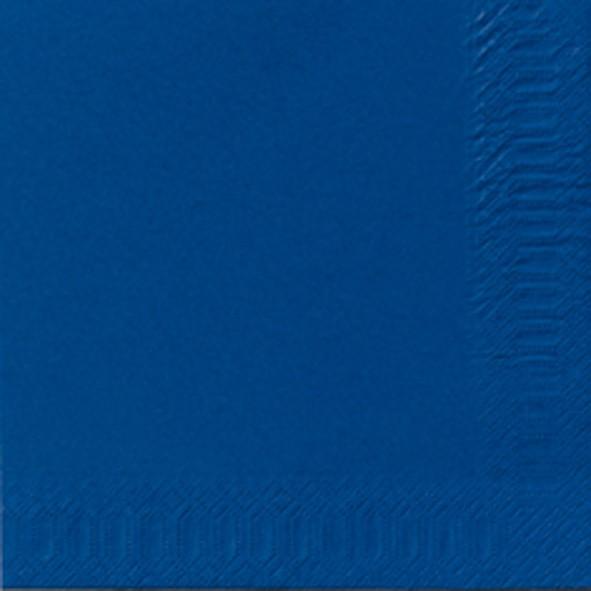 Papierservietten, blau, einfarbig, 33x33cm