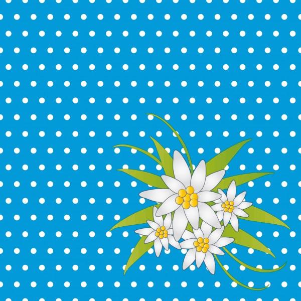 Papierservietten, blau, 24x24 cm