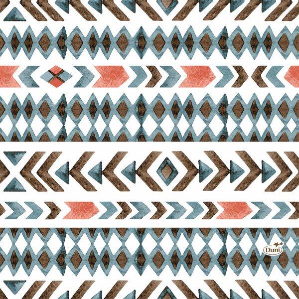 Papierservietten, Weiss, Blau, 33 x 33 cm