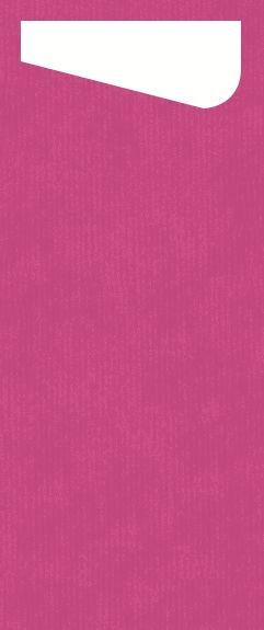 Bestecktasche Dunisoft, pink, 11.5 x 23 cm