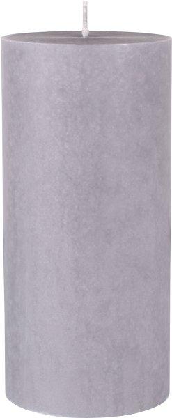 Stumpenkerze, grau, 15 x ø 7 cm, ca. 45 Std.