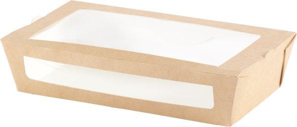 """Karton/PLA Menübox mit Fenster, Braun, 9 dl, """"ecoecho"""""""